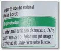 Como apresentar as substâncias/produtos que provocam alergias ou intolerâncias num rótulo?