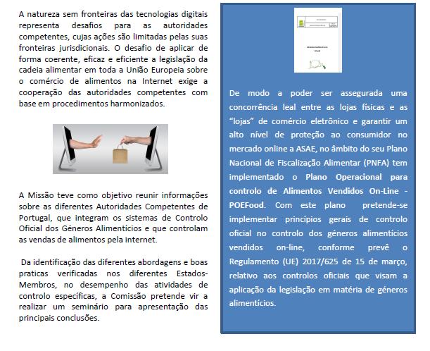 A ASAE e o Controlo do Comércio de Alimentos on-line