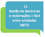 11.Gestão de denúncias e reclamações + fácil entre entidades METD