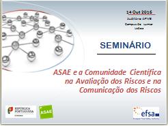 ASAE e a Comunidade Científica na Avaliação e Comunicação dos Riscos na Cadeia Alimentar