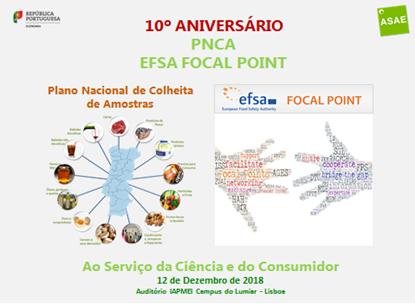 10º Aniversário do PNCA e da ASAE como Focal Point da EFSA