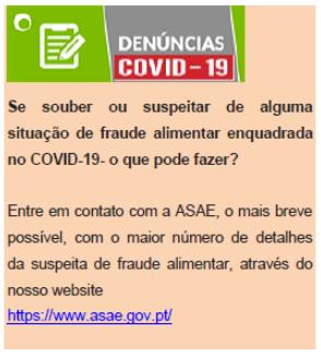 FRAUDE ALIMENTAR: Oferta e Publicidade On Line de Géneros Alimentícios relacionados com a COVID 19